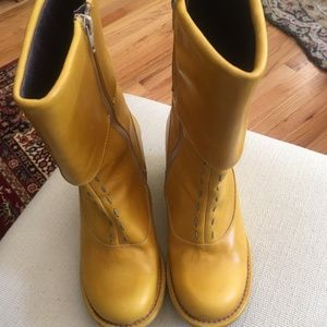 Yellow Leather DY Destroy Boots made in Spain